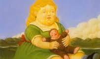 بقايا فتاة سمينة