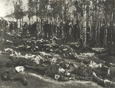 صورة لبعض ضحايا المجازر الحميدية عام 1895
