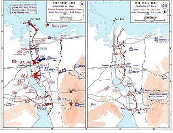 خط بارليف و إقتحامه عبر الخريطة
