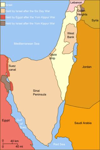 خريطة مكاسب مصر و إسرائيل على الارض و نلاحظ أن مصر عملياً لم تأخد إلا بقعة بسيطة من سيناء بخلاف الشائع عن أنها حررت نصفها في الحرب.