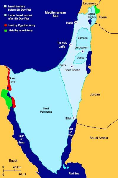 Yom Kippur war ceasfire lines