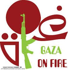 gaza on fire