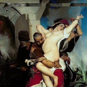 لوحة لرسام تشيكي تكشف فظائع السبي بعد الغزو الإسلامي